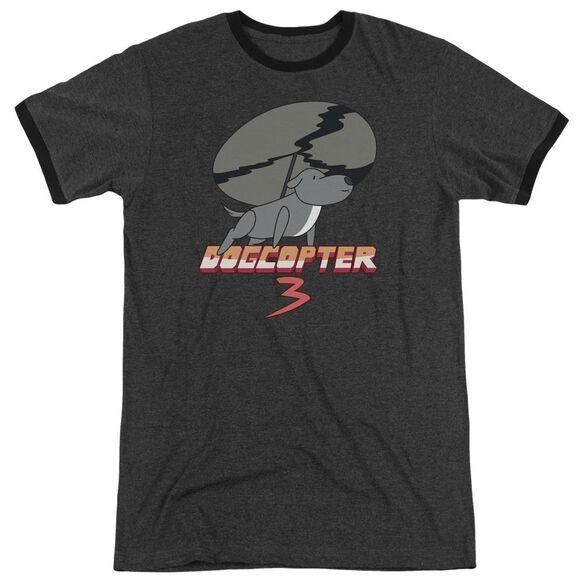 Steven Universe Dogcopter 3 Adult Ringer Charcoal