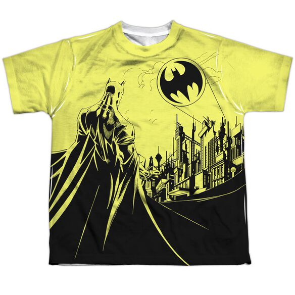 Batman Bat Signal Short Sleeve Youth Poly Crew T-Shirt