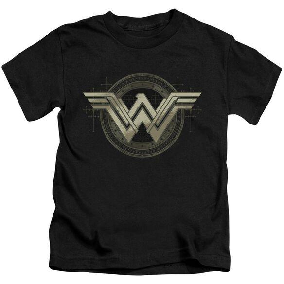 Batman V Superman Ancient Emblems Short Sleeve Juvenile Black T-Shirt