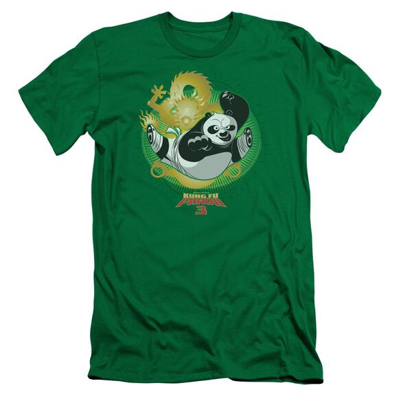 Kung Fu Panda Drago Po Short Sleeve Adult Kelly T-Shirt