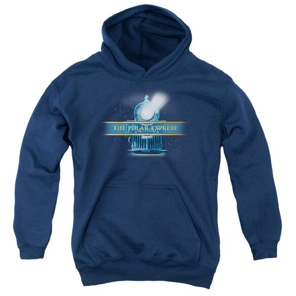 Polar Express Train Logo Youth Pull Over Hoodie