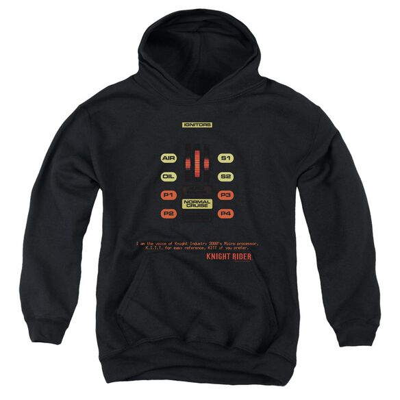 Knight Rider Kitt Consol Youth Pull Over Hoodie