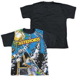 Atari Asteroids All Over Short Sleeve Youth Front Black Back T-Shirt