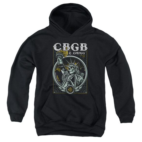 Cbgb Liberty Skull Youth Pull Over Hoodie