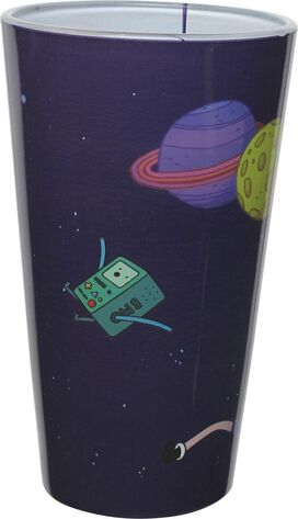 Adventure Time Characters in Space Pint Glass