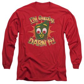Gumby Darn It Long Sleeve Adult T-Shirt
