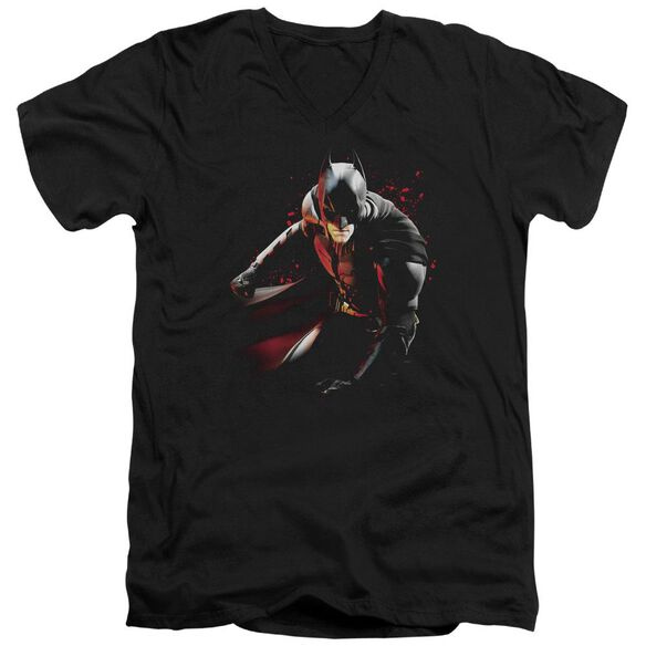 Dark Knight Rises Ready To Punch Short Sleeve Adult V Neck T-Shirt
