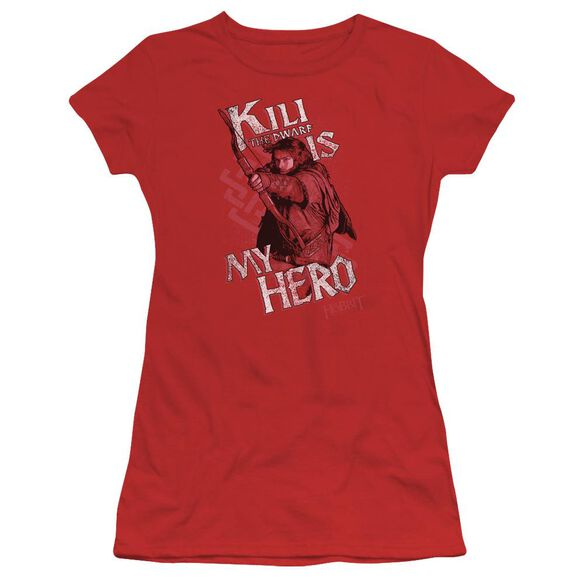 The Hobbit Kili Is My Hero Short Sleeve Junior Sheer T-Shirt