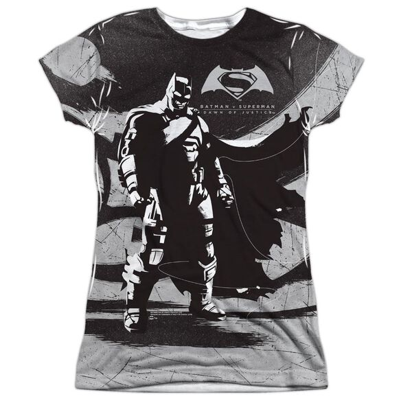 Batman V Superman Batman Contrast Short Sleeve Junior Poly Crew T-Shirt