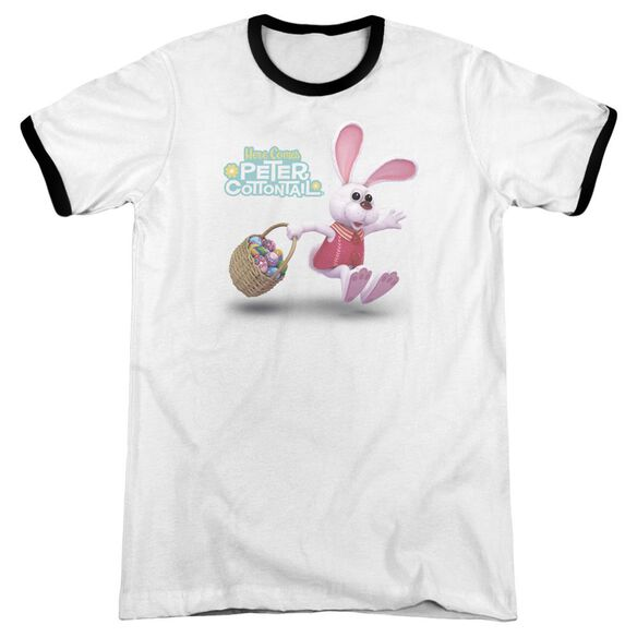 Here Comes Peter Cottontail Hop Around Adult Ringer White Black