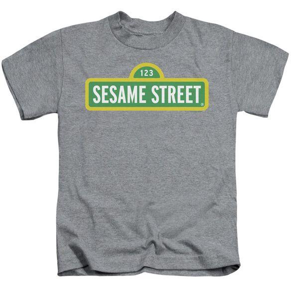 Sesame Street Logo Short Sleeve Juvenile Athletic Heather T-Shirt