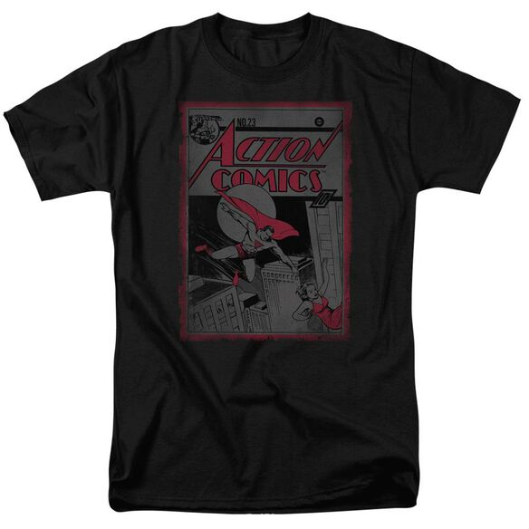 SUPERMAN ACTION COMICS 23 - S/S ADULT 18/1 - BLACK T-Shirt