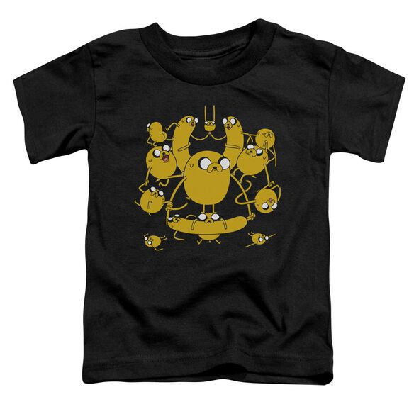 Adventure Time Jakes Short Sleeve Toddler Tee Black T-Shirt