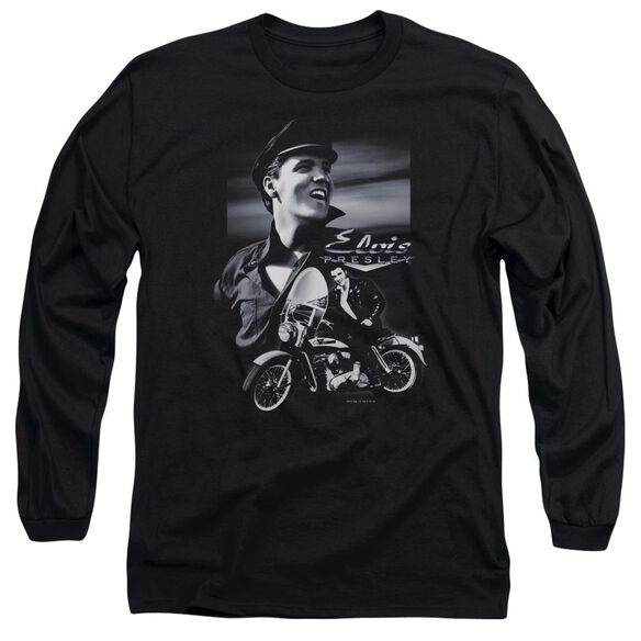 Elvis Presley Motorcycle Long Sleeve Adult T-Shirt