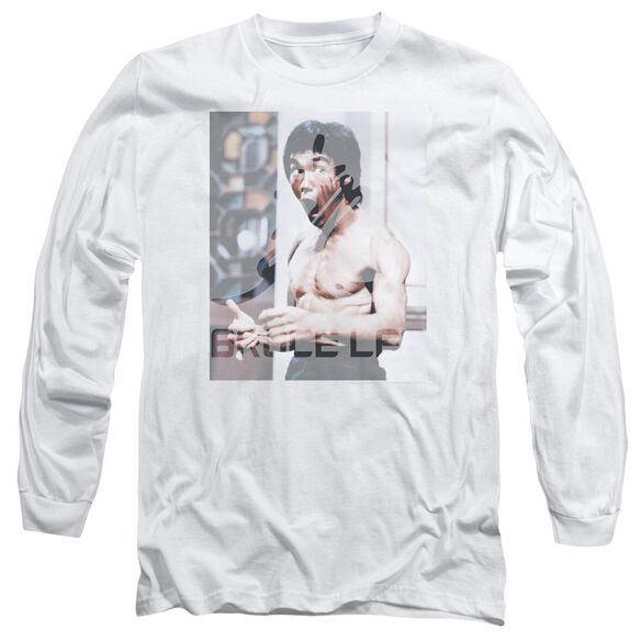 Bruce Lee Revving Up Long Sleeve Adult T-Shirt