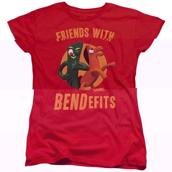 GUMBY BENDEFITS - S/S WOMENS TEE - RED T-Shirt
