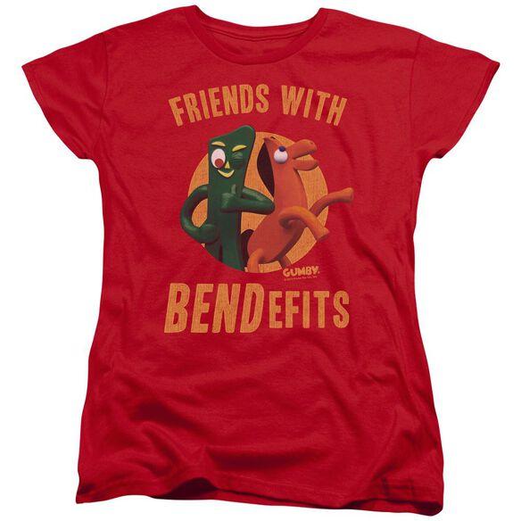 Gumby Bendefits Short Sleeve Womens Tee T-Shirt