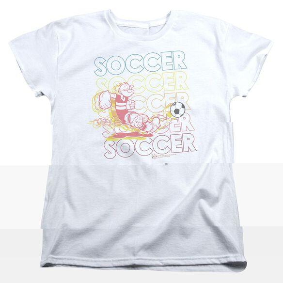 POPEYE SOCCER - S/S WOMENS TEE - WHITE T-Shirt