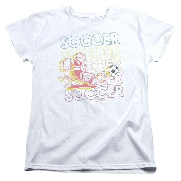 Popeye Soccer Short Sleeve Women's Tee T-Shirt