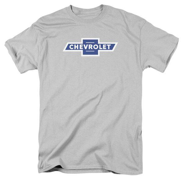 Chevrolet Vintage White Border Bowtie Short Sleeve Adult T-Shirt