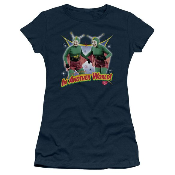 I Love Lucy In Another World Short Sleeve Junior Sheer T-Shirt