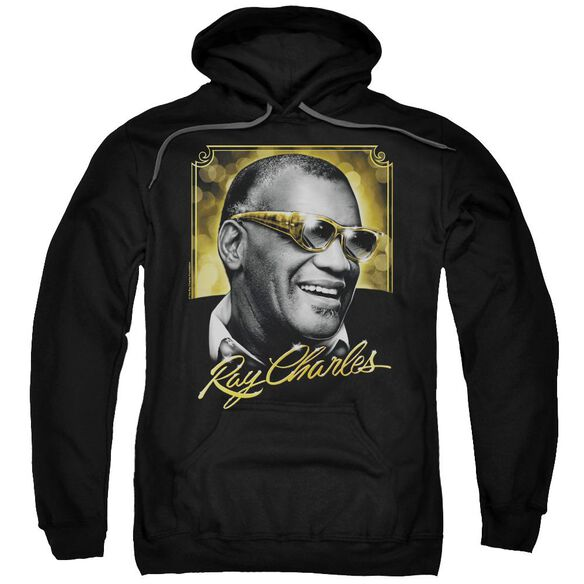 Ray Charles Golden Glasses Adult Pull Over Hoodie