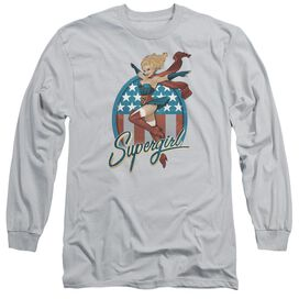 Jla Supergirl Bombshell Long Sleeve Adult T-Shirt