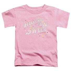 Smarties Bright Fun Sweet Short Sleeve Toddler Tee Pink Md T-Shirt