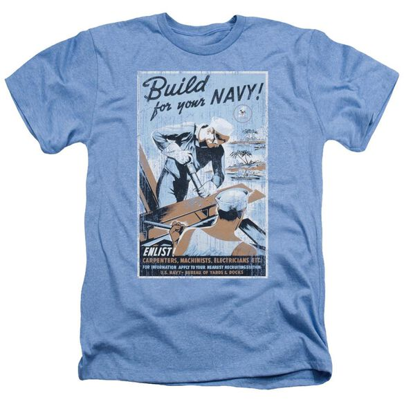 Navy Build Your Navy Adult Heather Light