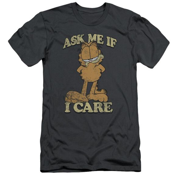 GARFIELD ASK ME - S/S ADULT 30/1 - CHARCOAL T-Shirt