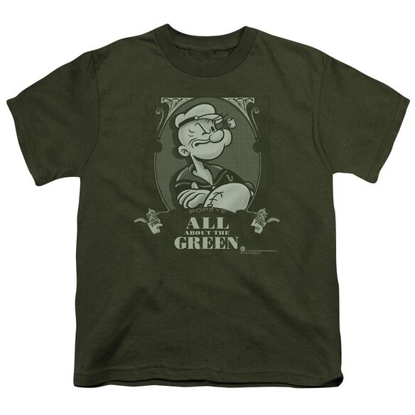 Popeye All About The Short Sleeve Youth Military T-Shirt