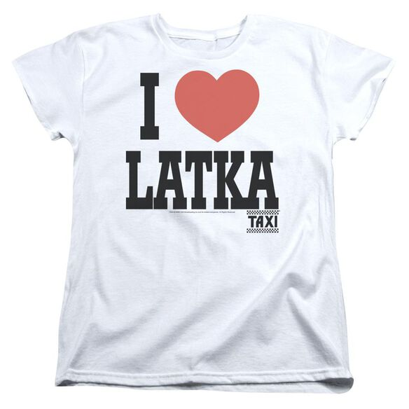 TAXI I HEART LATKA - S/S WOMENS TEE - WHITE T-Shirt