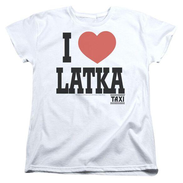 Taxi I Heart Latka Short Sleeve Womens Tee T-Shirt