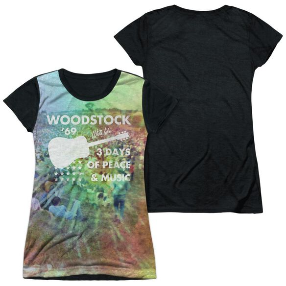 Woodstock On The Hill Short Sleeve Junior Poly Black Back T-Shirt