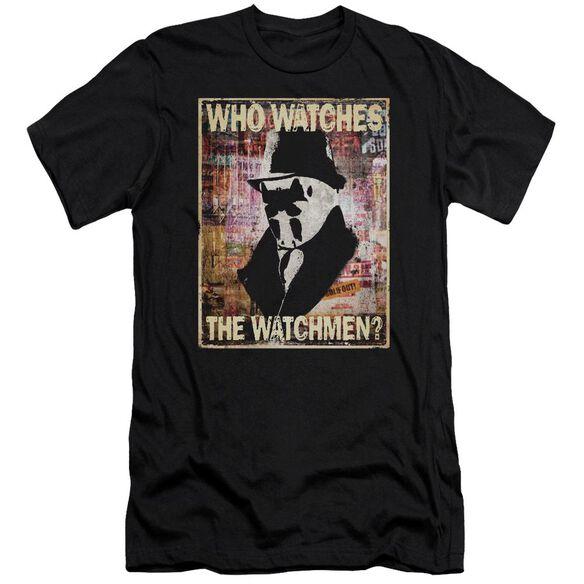 Watchmen Who Watches Premuim Canvas Adult Slim Fit