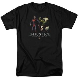 INJUSTICE GODS AMONG U UPERMANS REVENGE - S/S ADULT 18/1 - CHARCOAL T-Shirt
