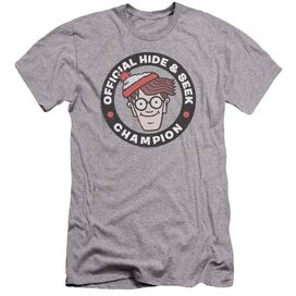 Wheres Waldo Champion Hbo Short Sleeve Adult Athletic T-Shirt