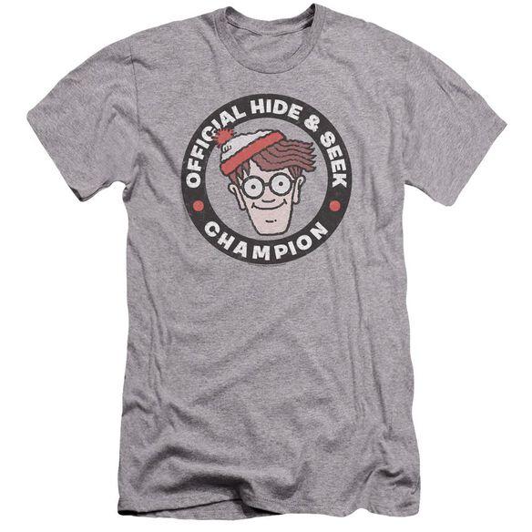Wheres Waldo Champion Hbo Short Sleeve Adult Athletic T-Shirt