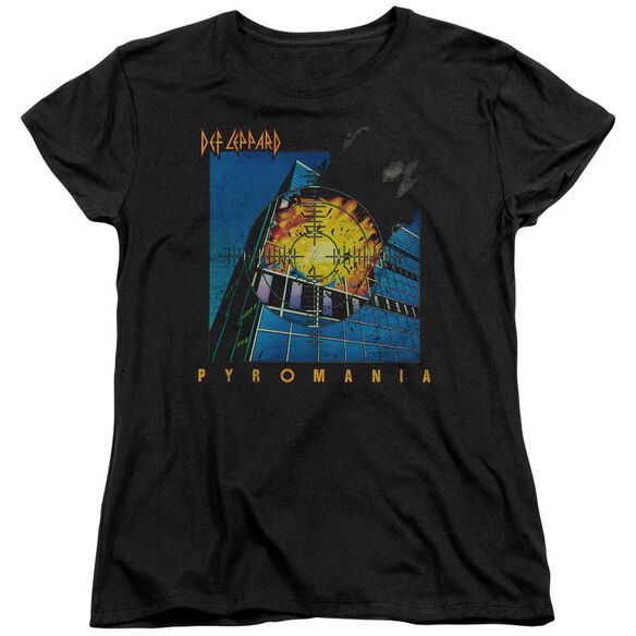 Def Leppard Pyromania Short Sleeve Womens Tee T-Shirt