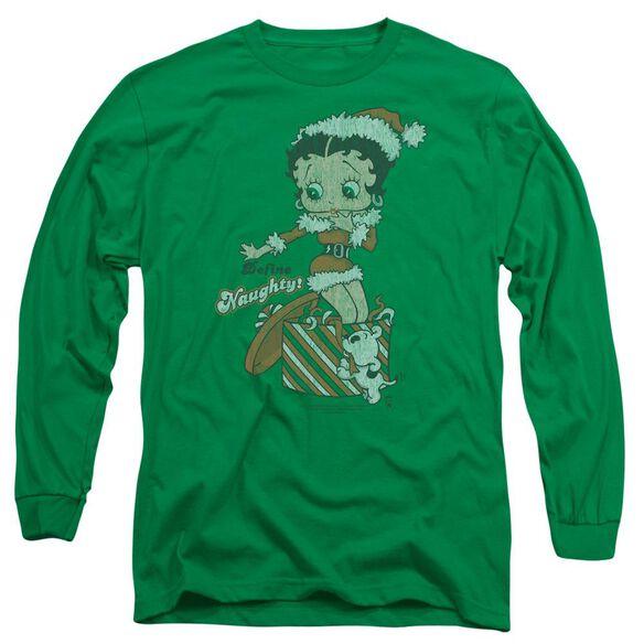 Betty Boop Define Naughty Long Sleeve Adult Kelly T-Shirt