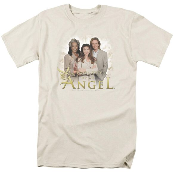 Touched By An Angel An Angel Short Sleeve Adult Cream T-Shirt