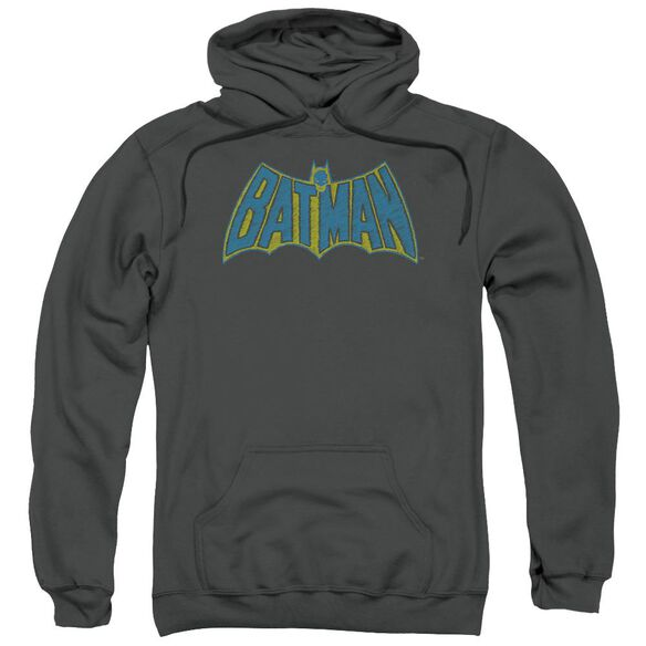 Batman Sketch Logo Adult Pull Over Hoodie