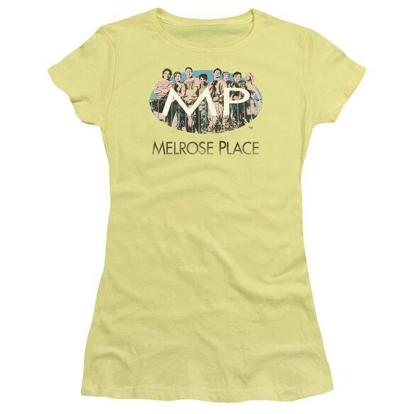 Melrose Place Meet At The Place Short Sleeve Junior Sheer T-Shirt