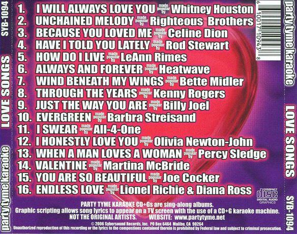 Love Songs (Cd+G)