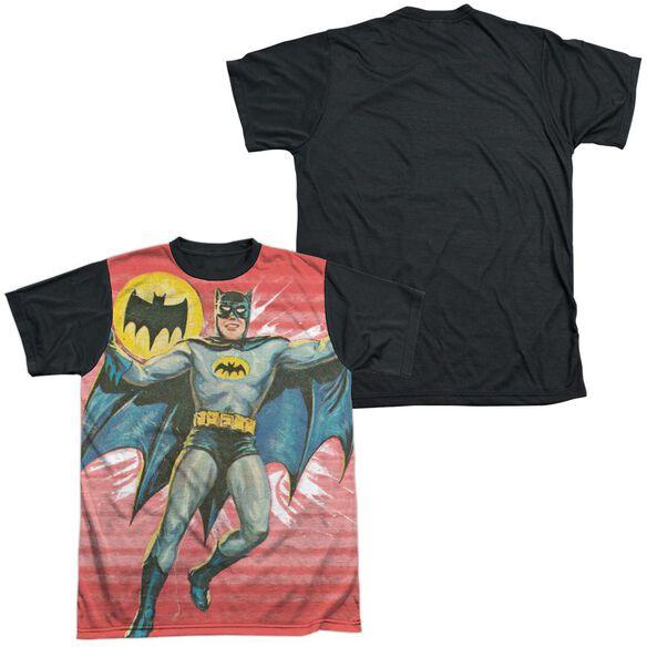 Batman Classic Tv Wrong Question Short Sleeve Adult Front Black Back T-Shirt