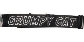 Grumpy Cat Name Black Seatbelt Mesh Belt