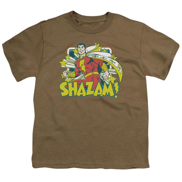 Dc Shazam Stars Short Sleeve Youth Safari T-Shirt