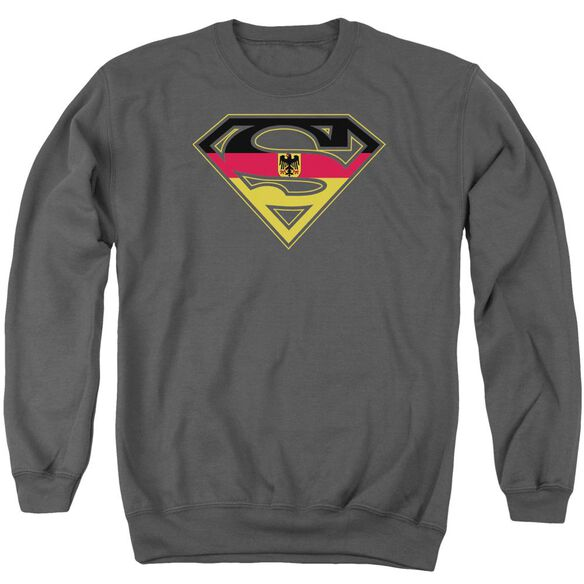 Superman German Shield Adult Crewneck Sweatshirt