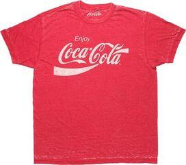 Coca-Cola Distressed Logo Red Burn T-Shirt