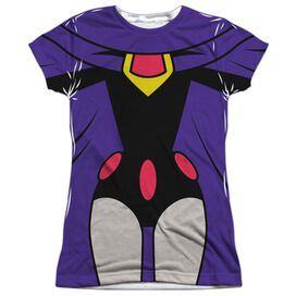 Teen Titans Go Raven Uniform Short Sleeve Junior Poly Crew T-Shirt